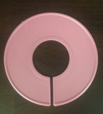 20 NEW Blank Pink Plastic Clothing Size Dividers Rack Ring Closet Divider