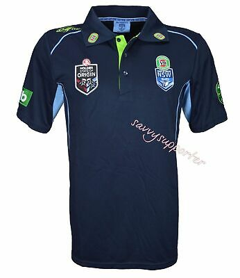 NSW Blues 2016 Navy Team Polo Shirt 'Select Size' S-5XL NRL State of Origin