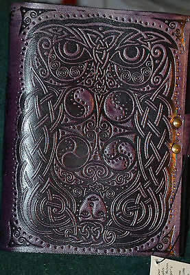 Brown Pentacle Leather Bound Book Of Shadows / Wiccan / Pagan