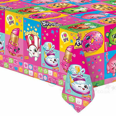 Shopkins Birthday Party Supplies Plastic Table Cover Tablecloth Licensed New