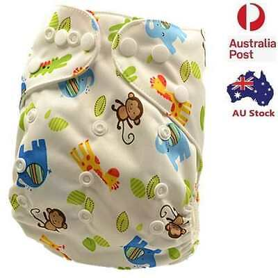 New Printed Baby Cloth Nappy Reusable Nappies Diapers Covers Liner Insert