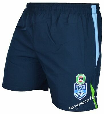 NSW Blues State of Origin Mens & Kids Training Shorts Select Sizes NRL