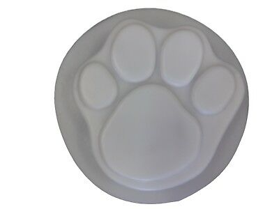 7 Inch Dog Cat Paw Concrete, Cement or Plaster Stepping Stone Garden Mold 1018