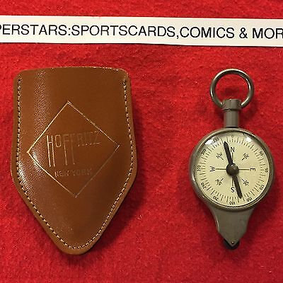 1950s Hoffritz Compass and Map Mileage converter in Leather case