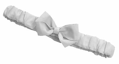 -:- Grey Ruffled Bow Headband -:- All Sizes Available from Preemie to Adult