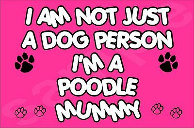I'm Not Just A Dog Person I'm A Poodle Mummy Fridge Magnet Gift Dog