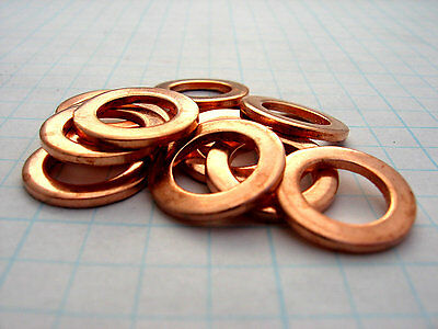 "1/8"",1/4"",3/8 &1/2"" BSP Solid sealing copper washers."
