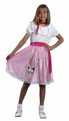 Girls Teeny Bopper 1950s 50s Grease Rock n Roll dressing up costume Poodle girl