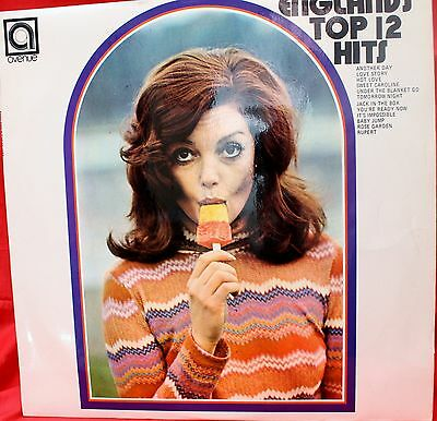 ENGLAND's TOP 12 HITS LP Record 1971 SoundaLike Covers.ALAN CADDY Model On Cover