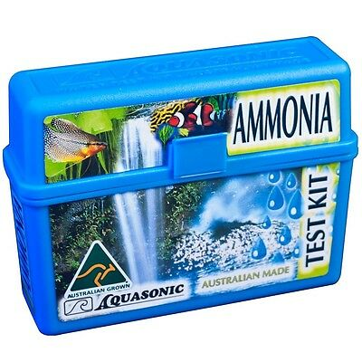 Ammonia Test Kit NH3 Freshwater/Saltwater Tests 0.1ppm up to 10ppm