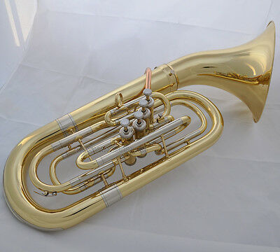Professional gold Detached bell baritone horn 4 front action key with case