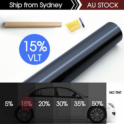 Window Tint Film 5% VLT Black Roll 76cm X 6m Car Auto House Home 760mm X 6m AU