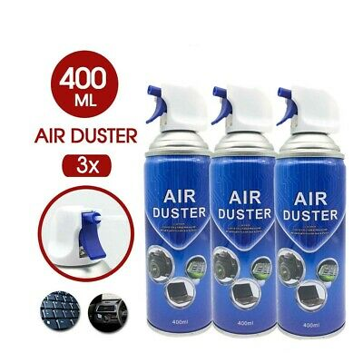 3X COMPRESSED AIR DUSTER CLEANER CAN Laptop PC Keyboard Camera Lens & Others AU