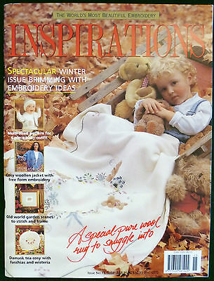 INSPIRATIONS # 15 EMBROIDERY MAGAZINE 1997 Rare back issue OOP AUSTRALIAN