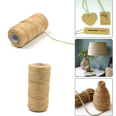 1.5MM X 100M Natural Dry Hemp Twine Cord Jute Twine Rope DIY Making Crafts Decor