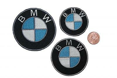 BMW Patch Embroidered Badge Sew-on/Iron-on 3 sizes