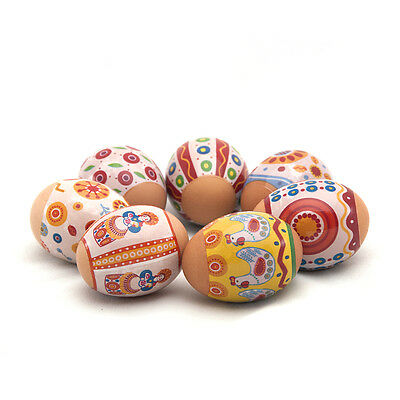Easter Egg Wraps Stickers, Amazing Colours, Dymkovsky Style, Easter Egg Craft