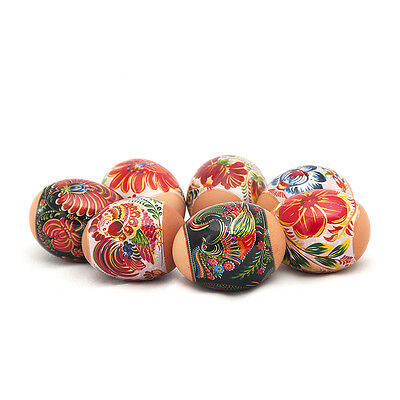 Russian Easter Egg Shrinking Wraps/Sleeve/Sticker Decor Red Roosters and Flowers