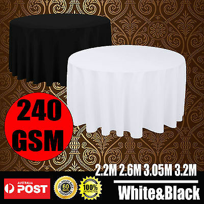 Black White Round Tablecloths Wedding Event Party Function Deco Table Cloth