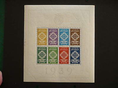 "MNH PORTUGAL 1940 ""LEGION"" CROSS OF AVIS M/S SG 911a,Sc#586a CV £700"