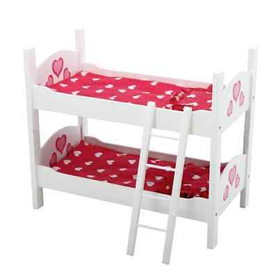 Doll Bunk Bed 18 American Girl Dolls Furniture Wooden Ladder