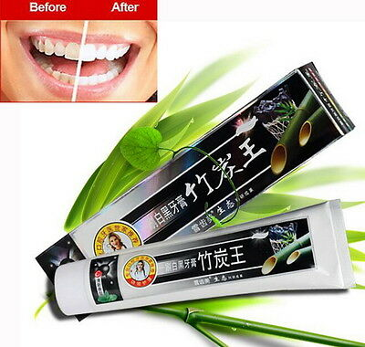 160g Bamboo Charcoal Teeth Whitening Black Toothpaste Anti Insect-resistant SS