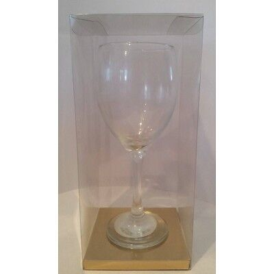 Luxury Transparent PVC Acetate Wine Glass Gift Box for Wine Glass 100x100x220mm