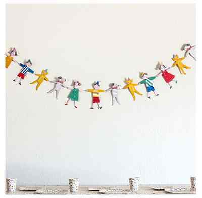 12 Pennants Paper Bunting Banner Garland Wedding Party Christening Decoration
