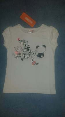 New/NWT Gymboree Animal Party Toddler Girls Cute Animal Pals Tee/Shirt, Size 2T