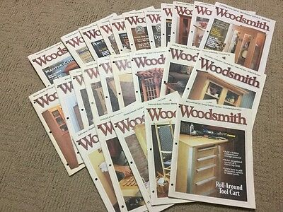 Lot of (25) Woodsmith magazine woodworking  #105 to #130 (1996 - 2000 )
