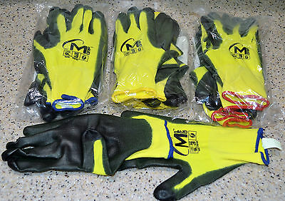 12 Pairs Miracle grip HI-VIS gloves w/Touch Tech & NeverSlip Technology Gorilla
