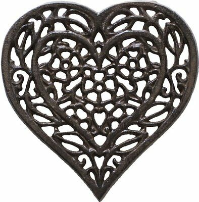Cast Iron Heart Trivet | Decorative Cast Iron Trivet For Kitchen Or Dining Table