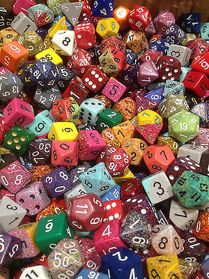 Loose (1) Pound Of Chessex Assorted Random Dice - Gaming Ad&d (16 Ounces)