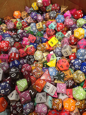 Loose (1/2) Pound O Chessex Assorted Random Dice - Gaming Ad&d (8 Ounces)