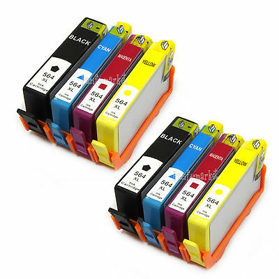 8x Ink Cartridges for HP 564 Photosmart 3070 5510 5520 6510 6520 7510 7520 4620