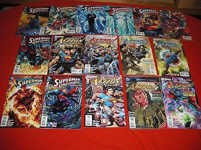 Action Comics 1 -8 2 3 4 5 6 7 Combo-Pack Superman Unchained 1 -9 2 3 4 5 6 7 8
