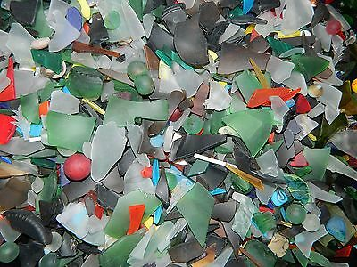 200g FROSTED TUMBLED / SEA GLASS - VERY COLOUFUL