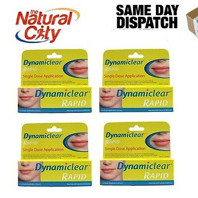 4 x DYNAMICLEAR RAPID one breakout one application cold sore lip care