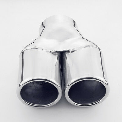 3 Inlet Dual 3 Out 6.7 Long Rolled Round 304 Stainless Steel Exhaust Tip