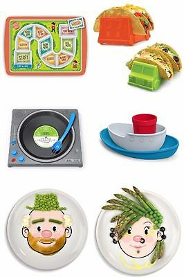 Genuine Fred Children's Kids Dinner Lunch Dining Plate Tray Set