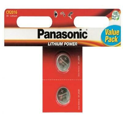 Pack of 2 Panasonic CR2016 3V Lithium Coin Cell Battery 2016 DL2016 Batteries