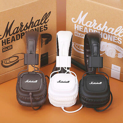 100% Original Marshall Major Headphones Noise Cancelling Deep Bass Stereo Remote