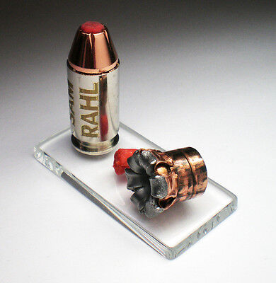45 ACP AUTO Hornady Critical Duty 220 grain +P Fired Expanded Bullet Engraved