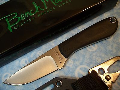 "BenchMark - 6"" NECK or BOOT knife Backpacker Full Tang w/ Micarta handle BMK001"