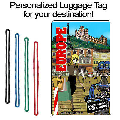 Personalized Travel Tag - Europe Hers