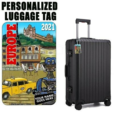 Personalized Travel Tag - Europe
