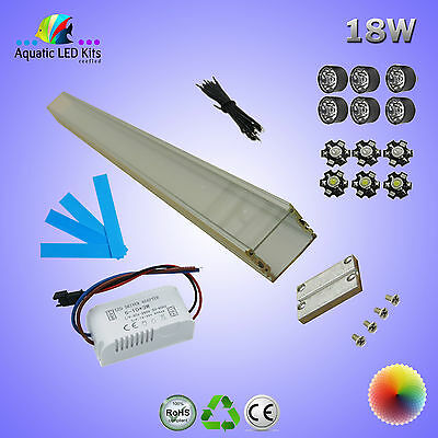 Aquarium DIY Bridgelux LED Light Kit 18W, 600mm, Replacement for T5 & T8 Tubes