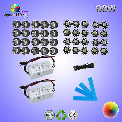 DIY Non Dimming Bridgelux Aquarium LED Light Kit 18W,21W,30W,60W,90W,120W