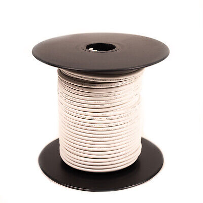 100 feet stranded 24GA 300V 105C Wire - White [H324-09-100]