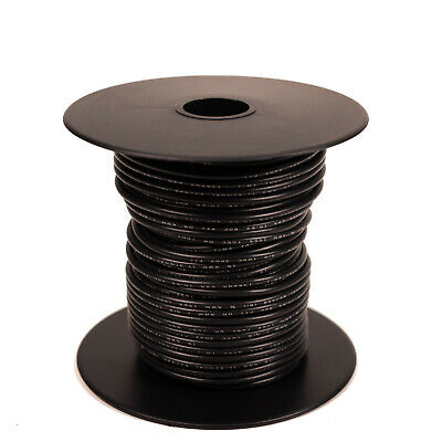 100 feet stranded 22GA 300V 105C Wire - Black [H322-00-100]